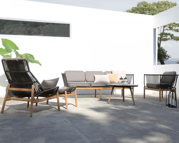 Garten Lounge Pollux 3- Sitzer und Sessel NEU Zebra verstellbar auf Terrasse - bowi.ch