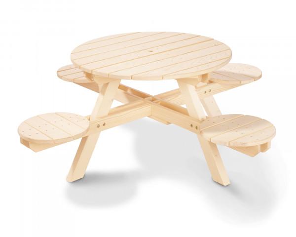 Kindergarnitur Nicki rund ein Tisch mit vier Höckern - bowi.ch
