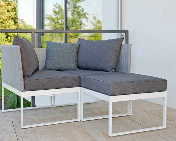 Mini Garten Lounge Set Donna Gestell Weiss - bowi.ch