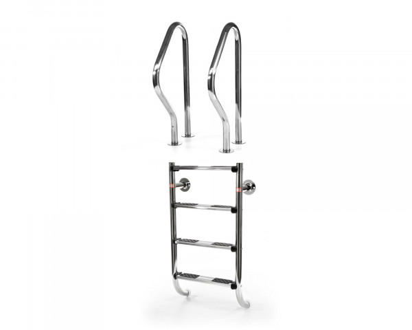 Einbauleiter 4 Treppen und 2 Handläufe V4A - bowi.ch