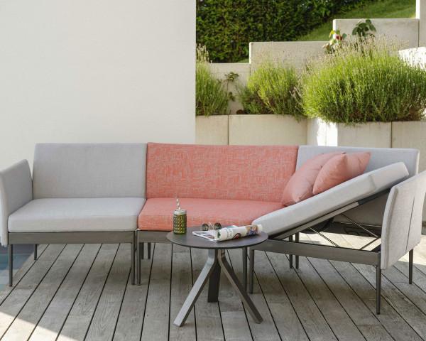 Garten Lounge Ildigo Set Stern® Möbe geschwungen Hellgrau Koralle - bowi.ch