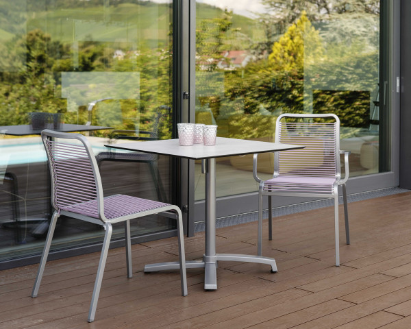 Gartentisch Set Oskar HPL Textilen Aluminium Graphit Gartenmöbel BOWI - bowi.ch