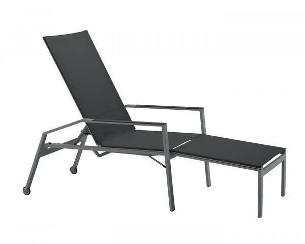 Liegestuhl einklappbar Sun Aluminium Textilen verstellbar Gartenmöbel BOWI - bowi.ch