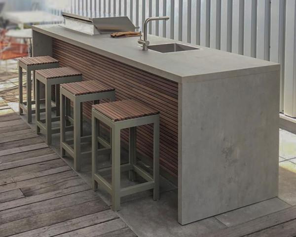 Cubic Outdoorküche Block mit Spüle und Gasgrill - bowi.ch