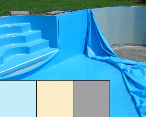 Pool Auskleidefolie rund uni blau, sans, grau - bowi.ch