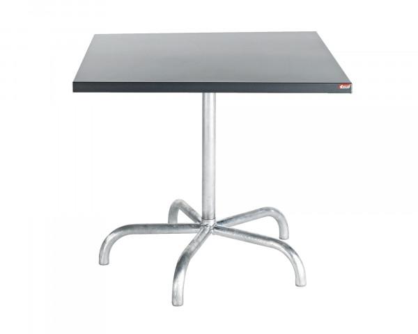 Gartentisch Säntis Schaffner Stahlblech Tischplatte Anthrazit quadratisch Gestell feuerverzinkt BOWI - bowi.ch