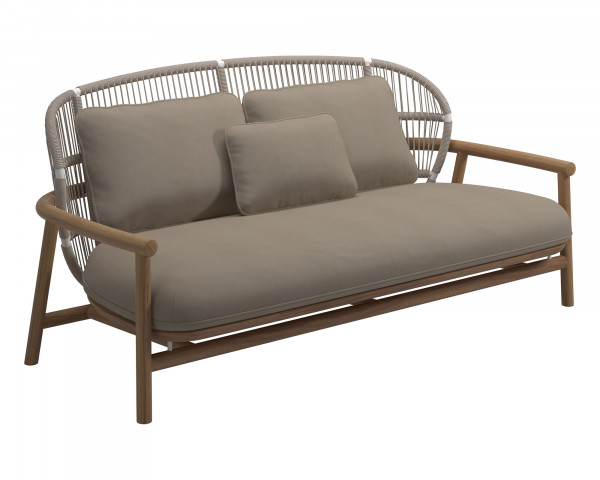 Garten Lounge Fern Sofa NL White Blend Sand - bowi.ch