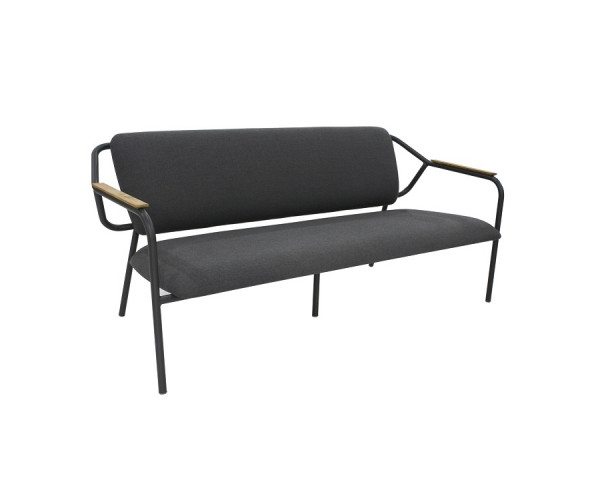Garten Lounge Bank Aluminium anthrazit wasserfeste Sitz- und Rückenkissen - bowi.ch