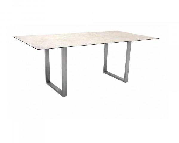 Gartentisch Miguel Kufen Edelstahl Beine mit HPL 2.0 Tischplatte - bowi.ch