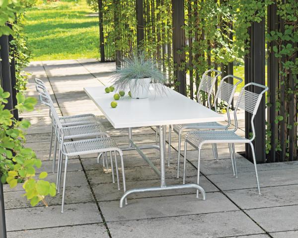 Gartentisch Set Säntis Weiss - bowi.ch