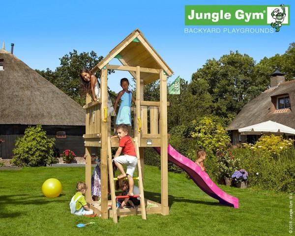 Spielturm Club Jungle Gym mit Sprossenleiter, Sandkasten, Rutschbahn - bowi.ch