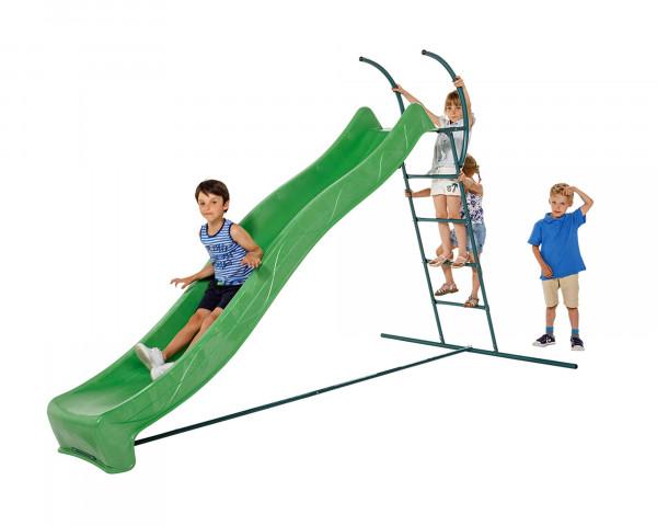 Rutschbahn mit Leiter und spielenden Kindern - bowi.ch