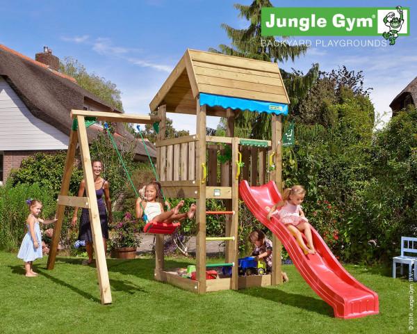 Spielturm Home mit 1-teiliger Anbauschaukel Jungle Gym inkl. Schaukelsitz - bowi.ch