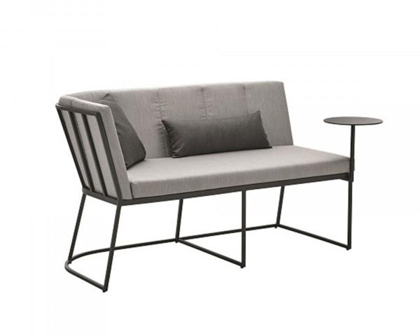 Lounge Corner Endeinheit Aluminium Anthrazit Kissen Sunbrella® Grau-Gartenmöbel BOWI - bowi.ch