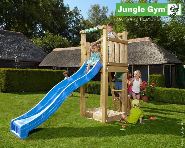 Klettergerüst Jungle : Spielturm jungle gym castle bridge holz mit sandkasten
