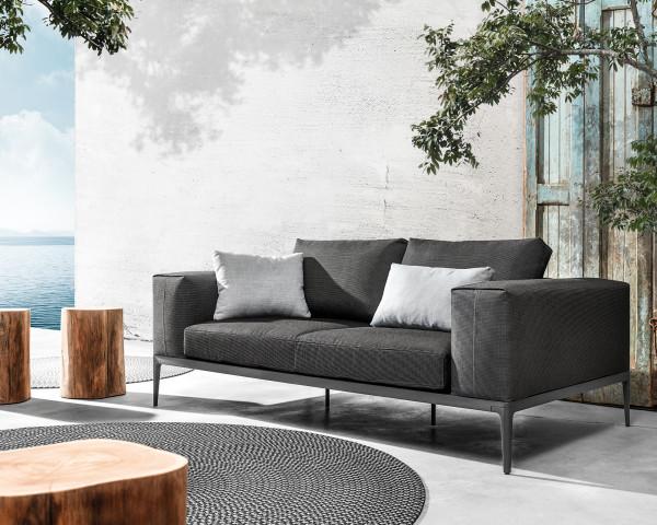 Gartenmöbel Lounge Grid Sofa wasserfeste Kissen Granite Gloster - bowi.ch