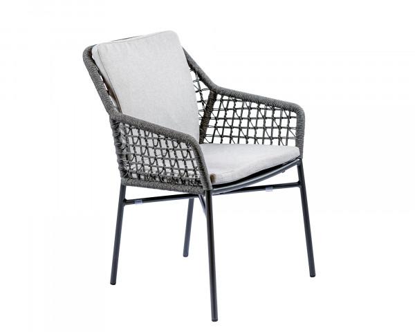 Gartenstuhl Milton geschnürt mit Sitz- und Rückenkissen - bowi.ch