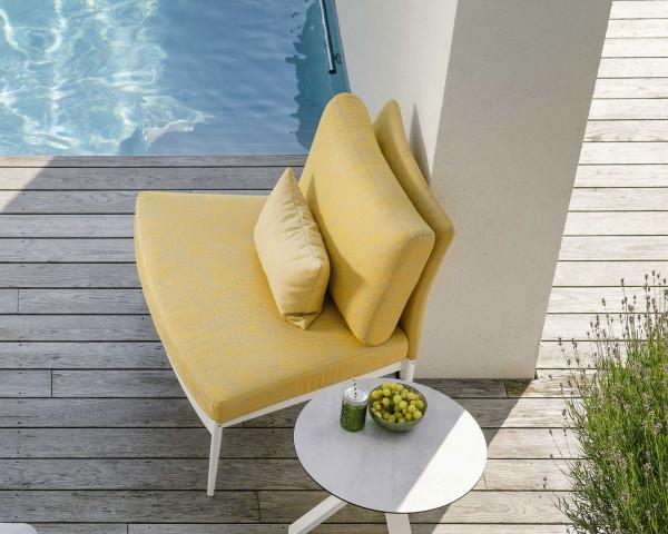 Lounge Ildigo rund Mittelteil schmal gelb - bowi.ch