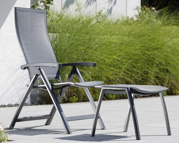 Kari Gartenstuhl klappbar Textilen Kaschmir Gestell Aluminium Anthrazit - bowi.ch