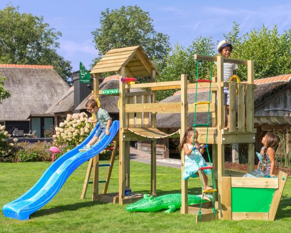Spielturm Voyager Jungle Gym mit Rutschbahn und Wackelbrücke - bowi.ch