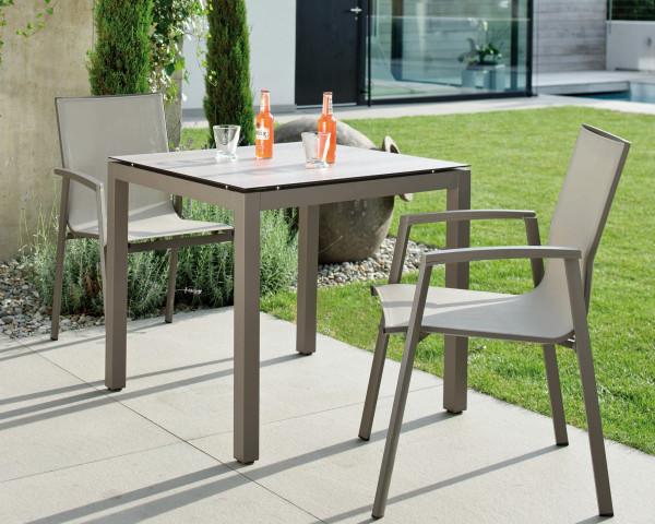 Kleines Gartentisch Set New Top Allround Taupe Kaschmir Stern® - bowi.ch