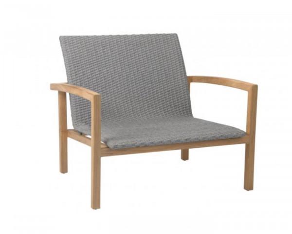 Garten Lounge Leah Sessel Teakholz Rahmen geschnürt - bowi.ch