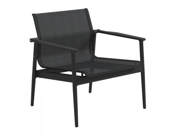 Garten Lounge Sessel 180 Sunbrella® Textilen Anthracite Meteor Gestell - bowi.ch
