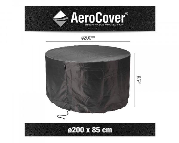 Adeckung für runde Tischgruppe Ø 200 cm AeroCover Anthrazit BOWI - bowi.ch