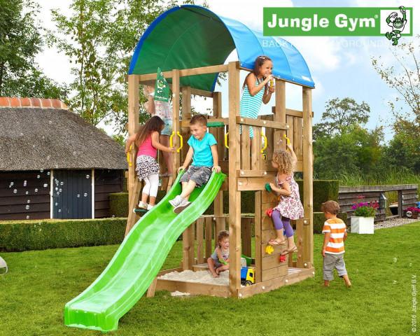 Spielturm Farm Jungle Gym mit Rutschbahn, Kletterwand und Planendach - bowi.ch