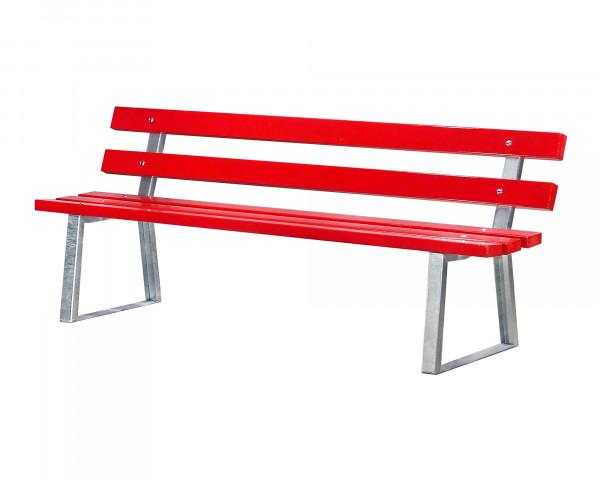 Ruhebank mit Lehne Farbe, rot - bowi.ch
