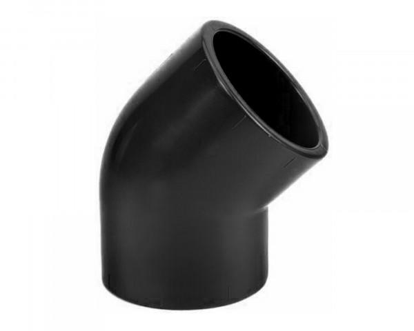 PVC Winkel 45° schwarz, UV-beständig - bowi.ch