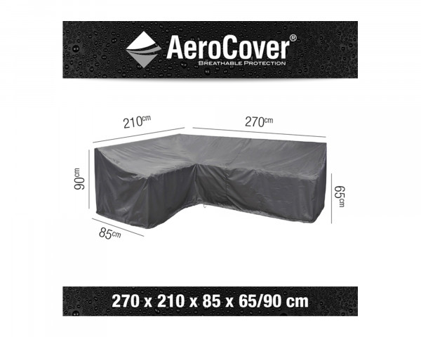 Schutzhülle Gartenmöbel AeroCover® Lounge L Form Links 270 x 210 x 85 x H 65 / 90 cm - bowi.ch