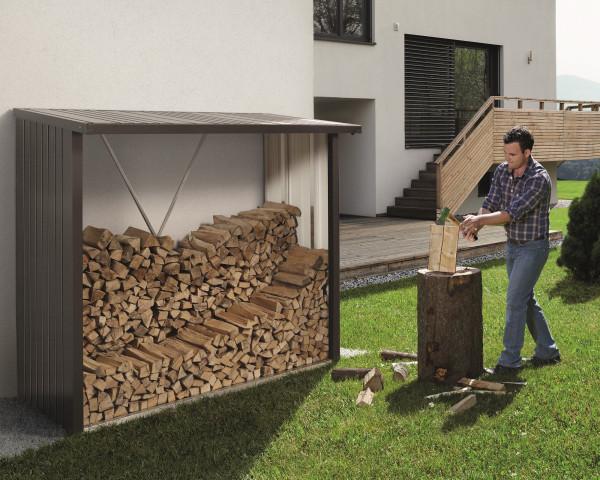 WoodStock® 230 cm Stauraum für Holz von Biohort - bowi.ch