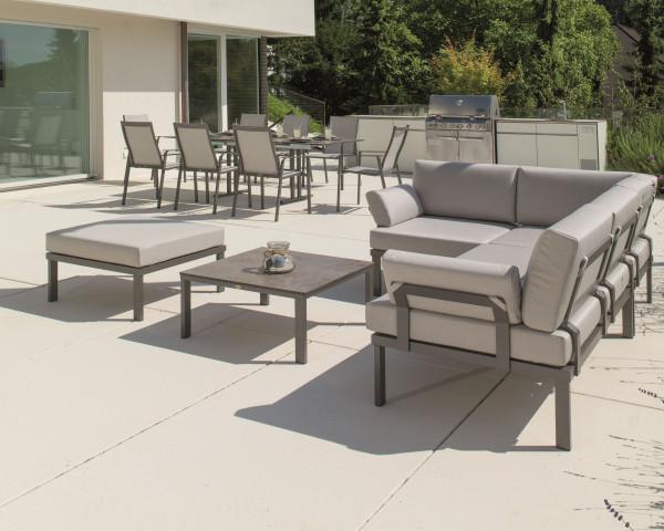Garten Lounge Lido Set aus dem Hause Karask wasserfeste Kissen Aluminium Gestell Gartenmöbel BOWI - bowi.ch
