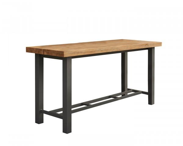 Gartenbar Tisch Nevada Teakholz Aluminium Gestell - bowi.ch