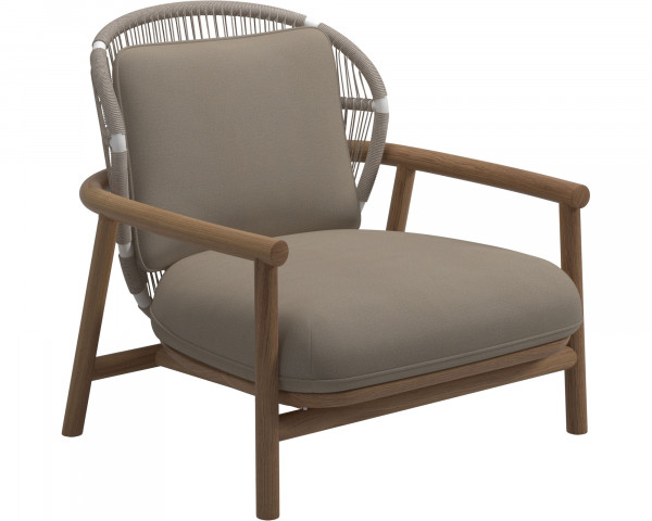 Garten Lounge Fern Sessel NL White Blend Sand Gloster - bowi.ch
