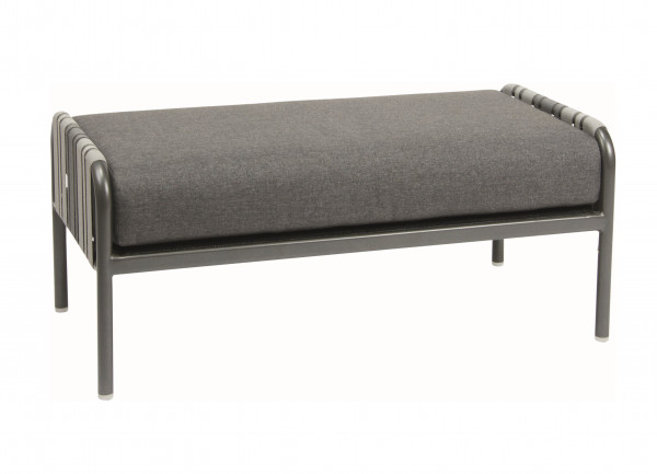 Fussteil Lounge Space Bänder in Grautöne inkl. Sitzkissen - bowi.ch