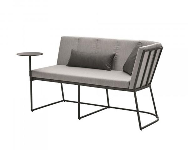 Lounge Corner Endeinheit Rechts Aluminium Anthrazit Kissen Sunbrella® Grau-Gartenmöbel BOWI - bowi.ch