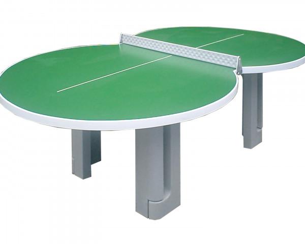 Tischtennistisch in flacher 8-Form - bowi.ch