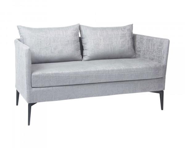 Garten Lounge 2er Sofa, Bank Marta Hellgrau Outdoorstoff - bowi.ch