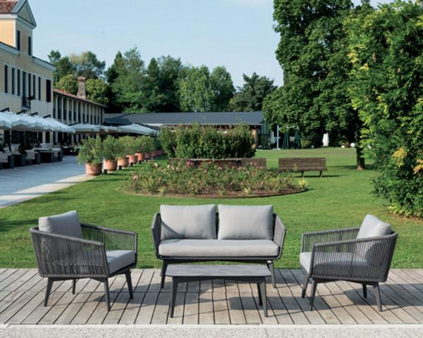 Garten Lounge Set Diva geschnürt Sessel Sofa Cutschtisch Ausstellung - bowi.ch