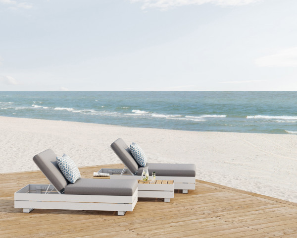 Garten Lounge Boxx Sonnenliege Weiss - bowi.ch