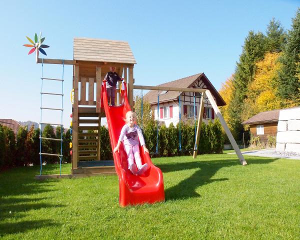 Spielturm Simba mit 2-teiliger Anbauschaukel stark - bowi.ch