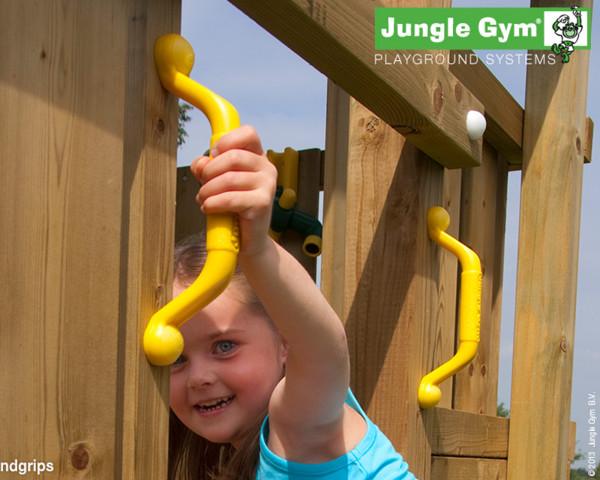 Handgriffe Jungle Gym Gelb montiert an Spielturm - bowi.ch