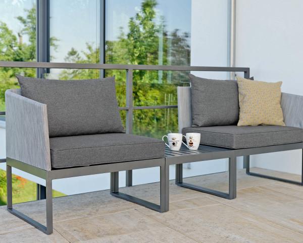 Mini Garten Lounge Donna Gestell Aluminium Anthrazit - bowi.ch
