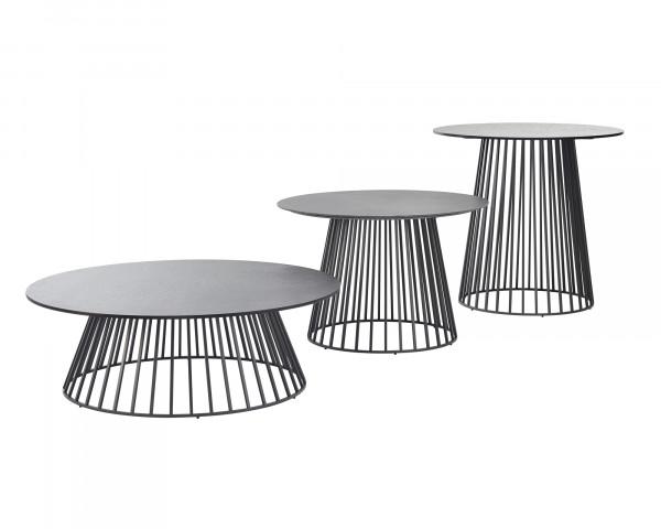 Beistelltisch Grid Tischplatte HPL Standart Gestell Aluminium Anthrazit - bowi.ch