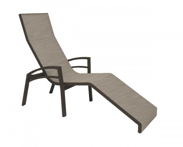 Relaxliege Balance in Taupe Textilen Kaschmir - bowi.ch