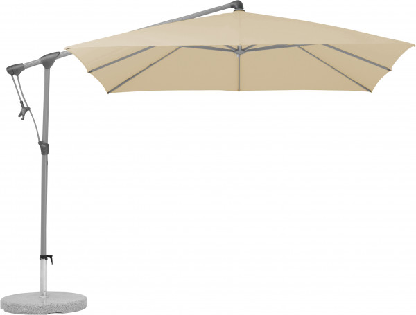 Funktionale Freiarmschirm-Sonnenschirm SUNWING® C+ GLATZ 150 Eggshell - bowi.ch