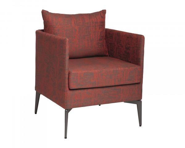 Garten Lounge Sessel Marta Rot Outdoorstoff - bowi.ch
