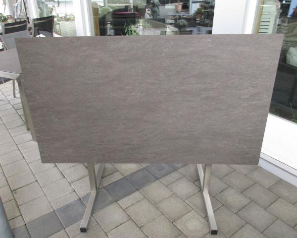 Klapptisch pin Bistro HPL Edelstahl 130 x 80 cm - bowi.ch